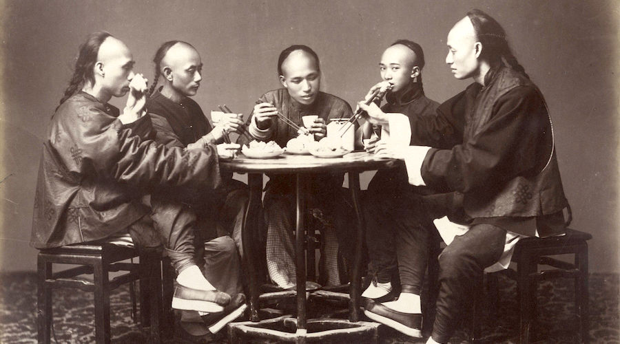 Chinese Meal by Lai Afong, c1880